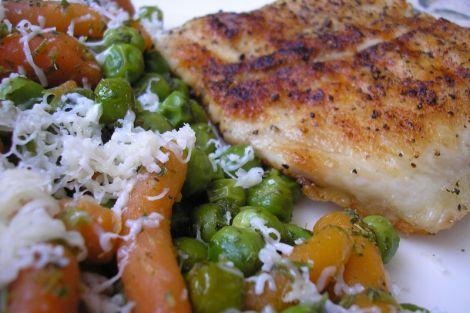 Ponty roston,párolt zöldségekkel